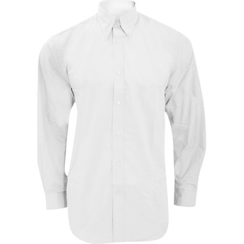 textil Hombre Camisas manga larga Kustom Kit KK140 Blanco