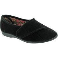 Zapatos Mujer Pantuflas Gbs Audrey Velcro Negro