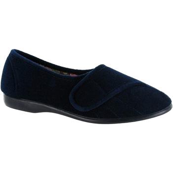 Zapatos Mujer Pantuflas Gbs Audrey Velcro Azul marino