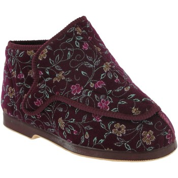 Zapatos Mujer Pantuflas Gbs Extra Wide Vino