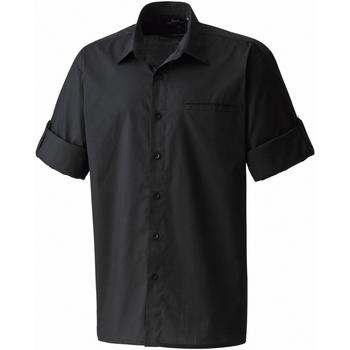 textil Hombre Camisas manga corta Premier PR206 Negro