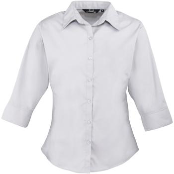 textil Mujer Camisas Premier Poplin Plata