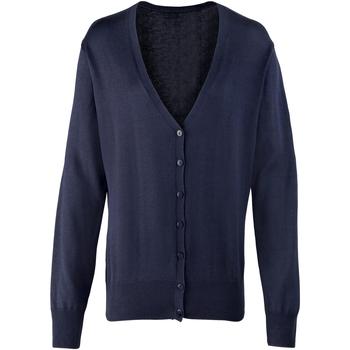 textil Mujer Chaquetas de punto Premier Button Through Azul marino