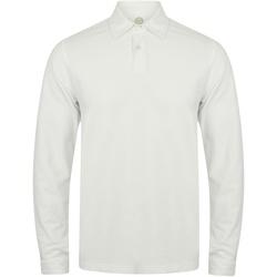 textil Hombre Polos manga larga Skinni Fit SFM44 Blanco