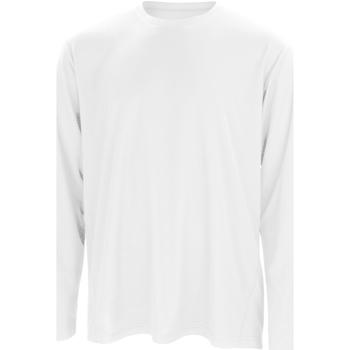 textil Hombre Camisetas manga larga Spiro S254M Blanco