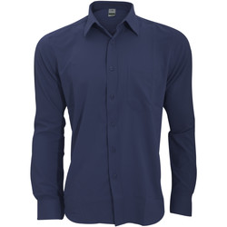 textil Hombre Camisas manga larga Henbury HB590 Azul marino