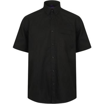 textil Hombre Camisas manga corta Henbury HB595 Negro
