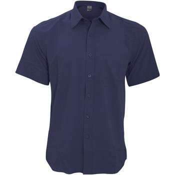 textil Hombre Camisas manga corta Henbury HB595 Azul marino