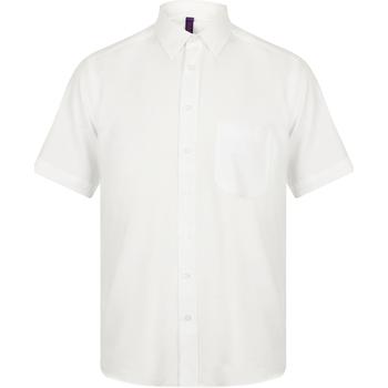 textil Hombre Camisas manga corta Henbury HB595 Blanco