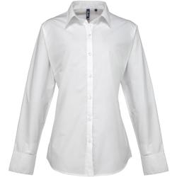 textil Mujer Camisas Premier PR307 Blanco