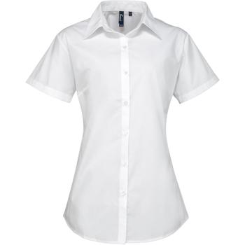 textil Mujer Camisas Premier PR309 Blanco