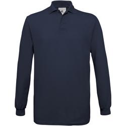 textil Hombre Polos manga larga B And C PU414 Azul marino