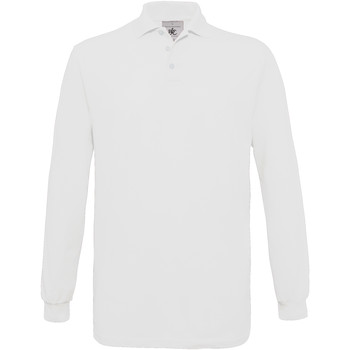 textil Hombre Polos manga larga B And C PU414 Blanco