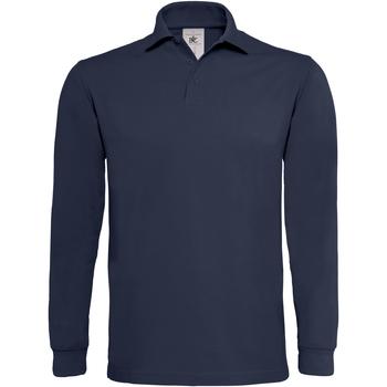 textil Hombre Polos manga larga B And C PU423 Azul marino