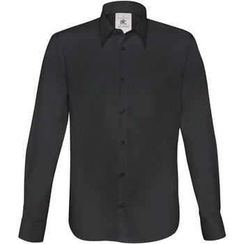 textil Hombre Camisas manga larga B And C SM580 Negro