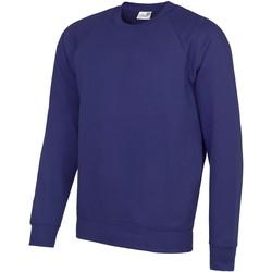 textil Hombre Sudaderas Awdis AC001 Púrpura