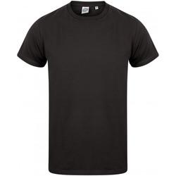 textil Hombre Camisetas manga corta Skinni Fit SF122 Negro