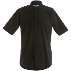 textil Hombre Camisas manga corta Kustom Kit KK160 Negro