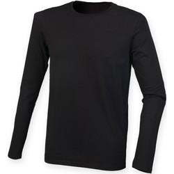 textil Hombre Camisetas manga larga Skinni Fit SF124 Negro