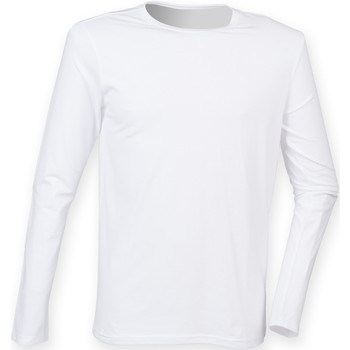 textil Hombre Camisetas manga larga Skinni Fit SF124 Blanco