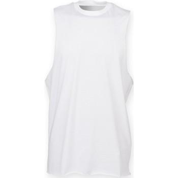 textil Hombre Camisetas sin mangas Skinni Fit SF232 Blanco