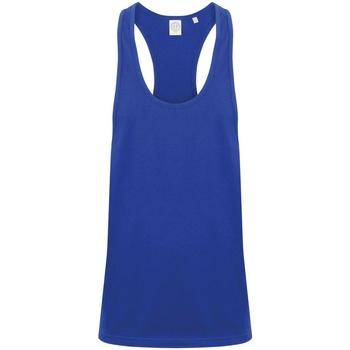 textil Hombre Camisetas sin mangas Skinni Fit SF236 Azul