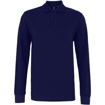 textil Hombre Polos manga larga Asquith & Fox AQ030 Azul marino
