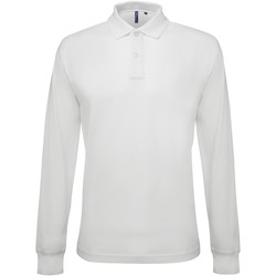 textil Hombre Polos manga larga Asquith & Fox AQ030 Blanco