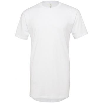 textil Hombre Camisetas manga corta Bella + Canvas Long Body Blanco
