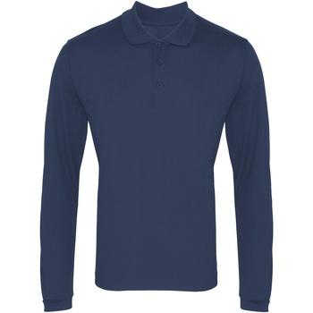 textil Hombre Polos manga larga Premier PR617 Azul marino