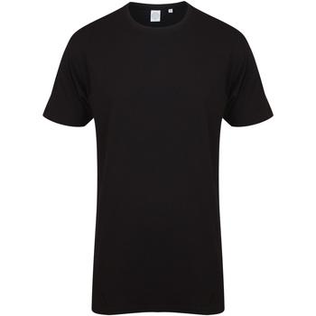 textil Hombre Camisetas manga corta Skinni Fit Dipped Hem Negro