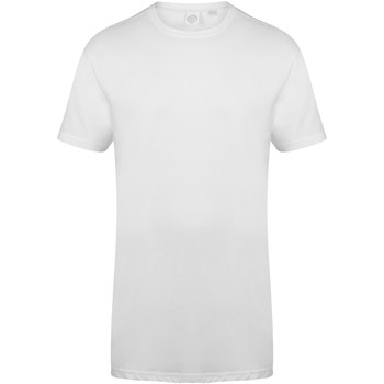 textil Hombre Camisetas manga corta Skinni Fit Dipped Hem Blanco