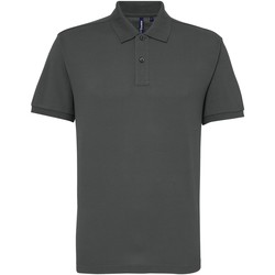 textil Hombre Polos manga corta Asquith & Fox AQ015 Carbón