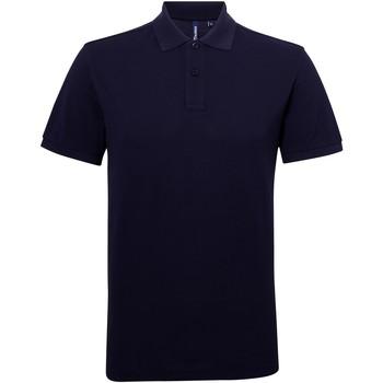 textil Hombre Polos manga corta Asquith & Fox AQ015 Azul marino