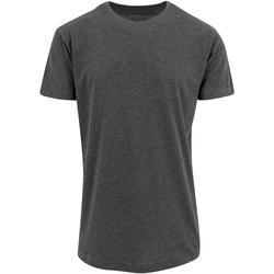 textil Hombre Camisetas manga corta Build Your Brand Shaped Carbón