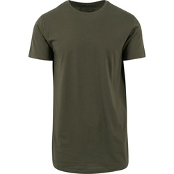 textil Hombre Camisetas manga corta Build Your Brand Shaped Oliva