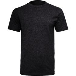 textil Hombre Camisetas manga corta Build Your Brand Round Neck Negro