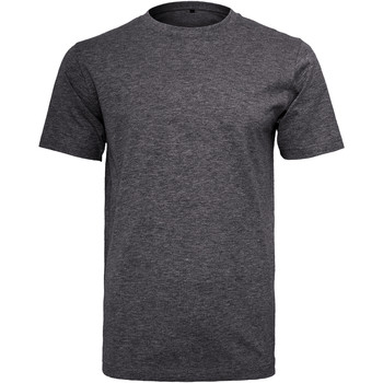textil Hombre Camisetas manga corta Build Your Brand Round Neck Carbón