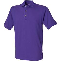 textil Hombre Polos manga corta Henbury HB100 Púrpura