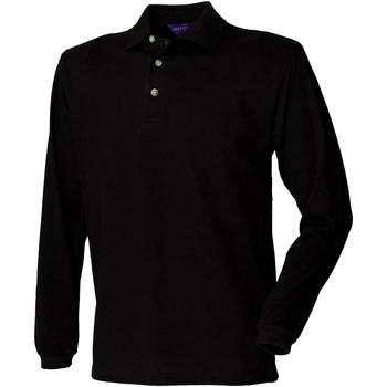 textil Hombre Polos manga larga Henbury HB105 Negro