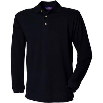 textil Hombre Polos manga larga Henbury HB105 Azul marino