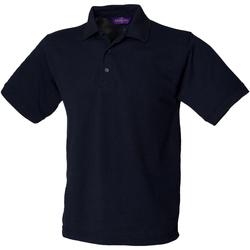 textil Hombre Polos manga corta Henbury HB400 Azul marino