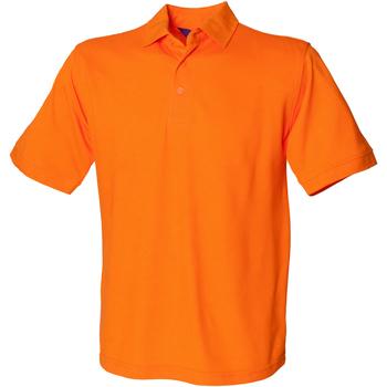 textil Hombre Polos manga corta Henbury HB400 Naranja
