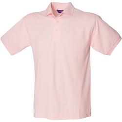 textil Hombre Polos manga corta Henbury HB400 Rosa