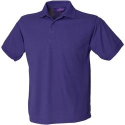 textil Hombre Polos manga corta Henbury HB400 Púrpura