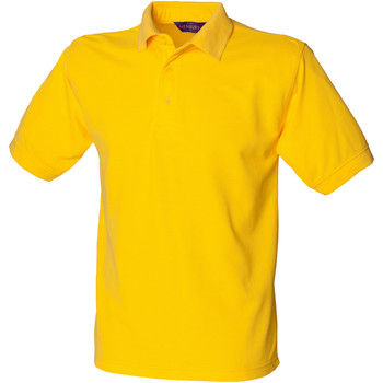 textil Hombre Polos manga corta Henbury HB400 Amarillo