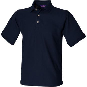 textil Hombre Polos manga corta Henbury HB410 Azul marino