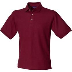 textil Hombre Polos manga corta Henbury HB410 Vino