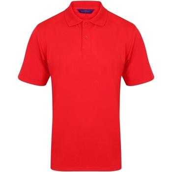 textil Hombre Polos manga corta Henbury HB475 Rojo