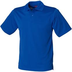 textil Hombre Polos manga corta Henbury HB475 Azul